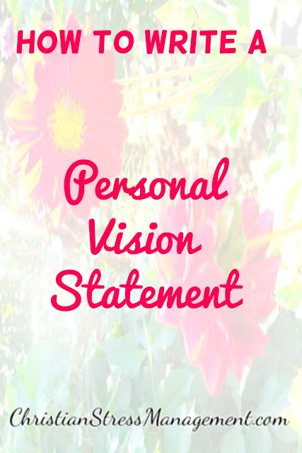 How to write a personal vision statement