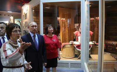 President Putin visited the Republic of Mari El Timofei Yevseyev National Museum.