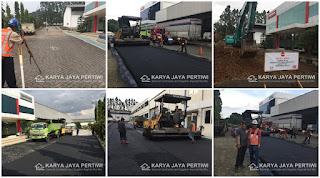 Proyek Pengaspalan PT. Hino Motors Sales Indonesia, Jasa Aspal Hotmix, Kontraktor Pengaspalan Jalan