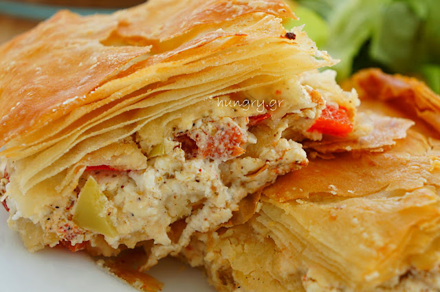 Feta Pie with Peppers