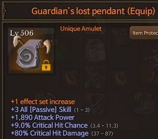 Dungeon Chronicle Amulet Set Skill Up