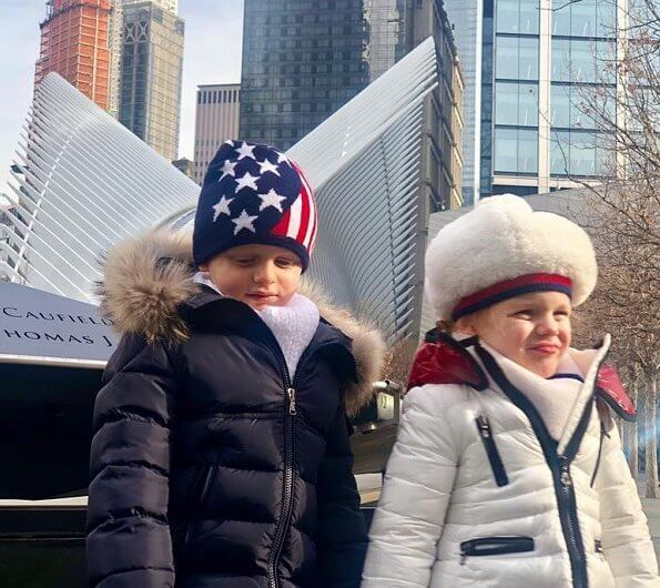 Princess Charlene, Crown Prince Jacques and Princess Gabriella of Monaco visited New York. Christmas holiday