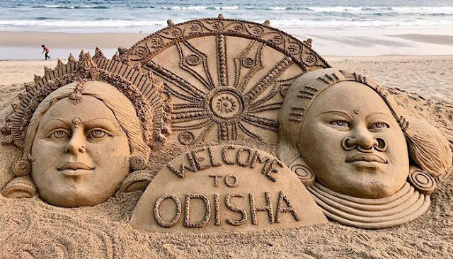 Odisha Tourism, Sand Art, Sudarshan Pattnaik