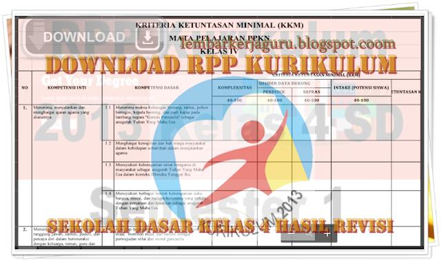 Download RPP Kurikulum Sekolah Dasar Kelas 4 Hasil Revisi