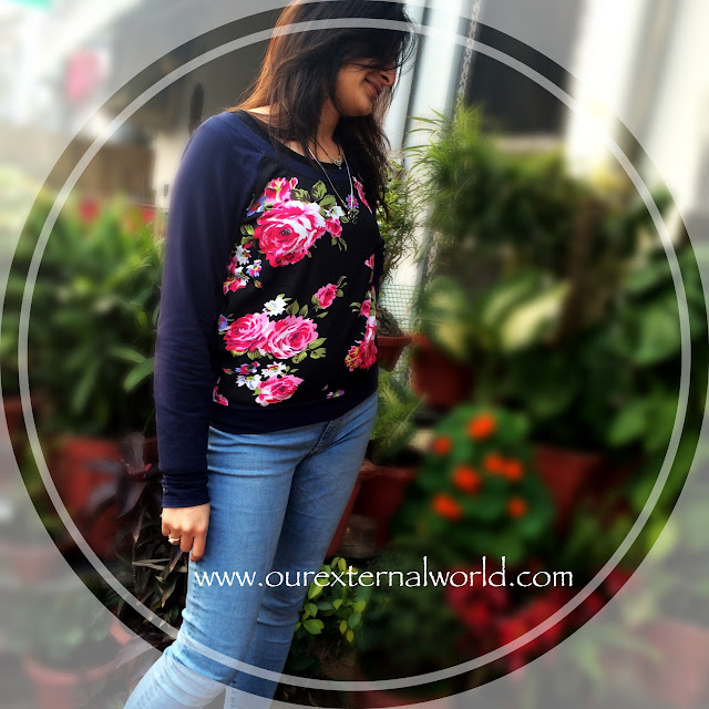 The World OF Sweatshirts & Our Floral Tryst, Fashion Update, Fashion Bloggers, How To Style Sweatshirts
