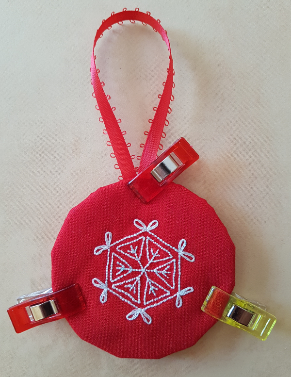 How to finish an embroidery or quilt block as an ornament | DevotedQuilter.blogspot.com