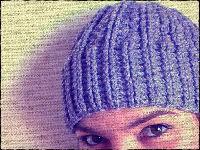 Margarita Knitting  Gorro a ganchillo unisex y con punto elástico doble cb32aaa137b