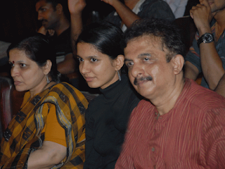 Jayanth Kaikini with wife and daughter