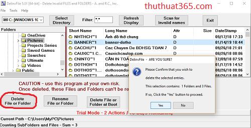 Cách xóa file, folder cứng đầu hiệu quả mà đơn giản nhất bằng phần mềm Delinvfile