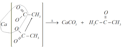 pirólise acetato propanona calcio