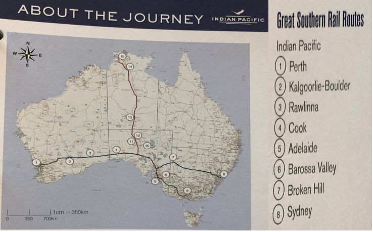 Indian Pacific : The Journey and Nullarbor Plain Day 2/3 on hawaii map, guam map, marshall islands map, ocean map, oceania map, asia map, atlantic map, mexico map, bali map, africa map, laminated map, ring of fire map, europe map, philippine sea map, time zone map, hong kong map, south china sea map, east indies map, australia map, aegean map,