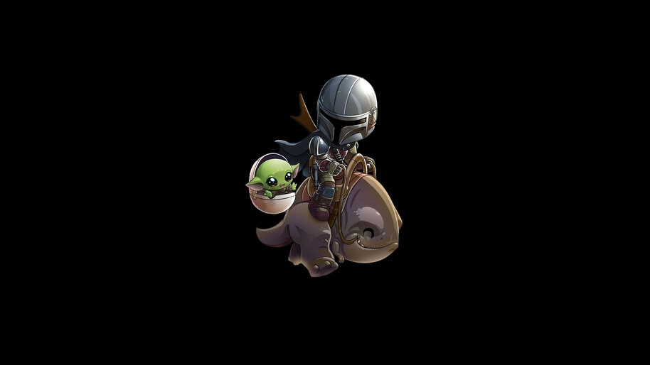 Mandalorian Baby Yoda Chibi 4k Wallpaper 7 969