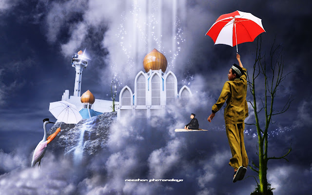 photo manipulation fly to peace