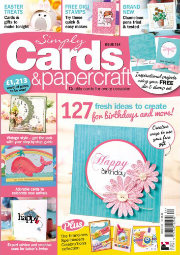 Simply Cards and Papercraft Issue 134 cover