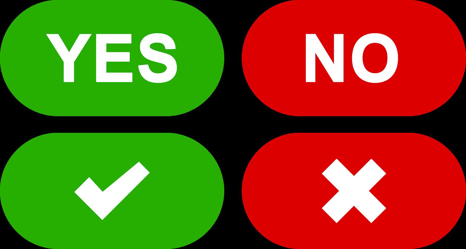 yes no buttons set download svg eps png psd ai vector color free - el fonts  vectors