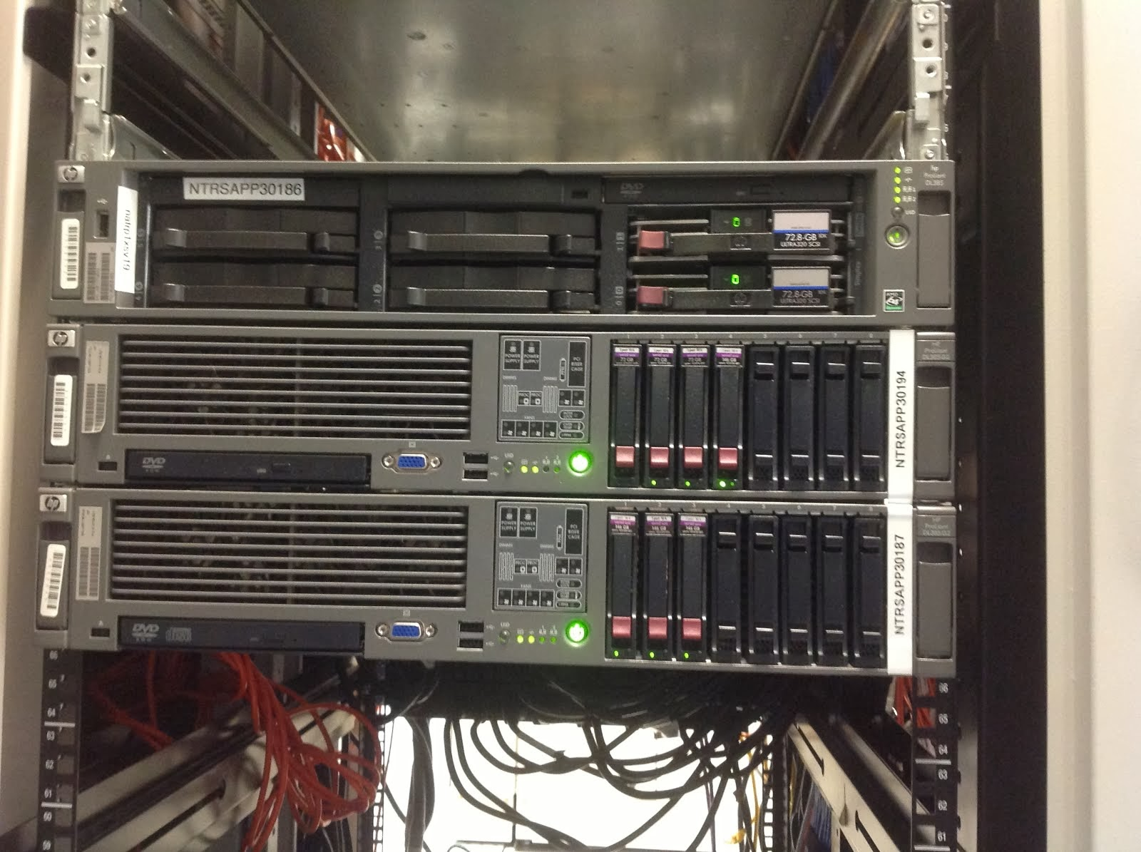Network Advisor  Hp Proliant Server Stacked In Rack