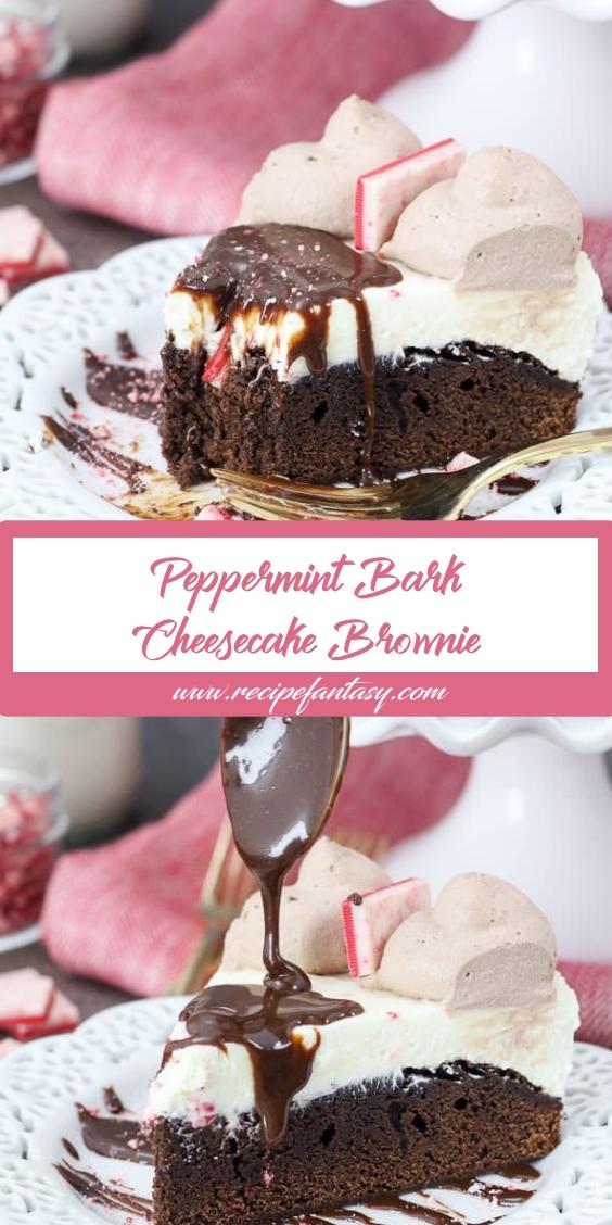 Peppermint Bark Cheesecake Brownie