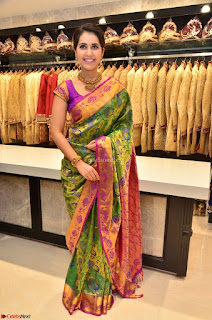 Raashi Khanna in colorful Saree looks stunning at inauguration of South India Shopping Mall at Madinaguda ~ Exclusive Celebrities Galleries 013