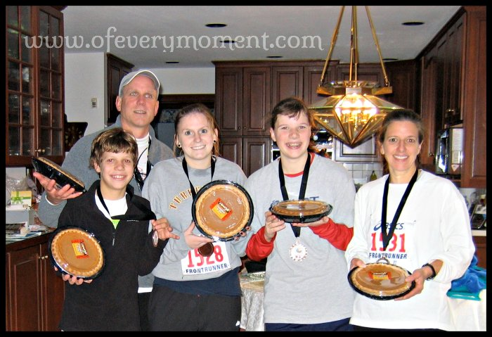 A turkey trot if a fun way to burn calories - and earn a pie!