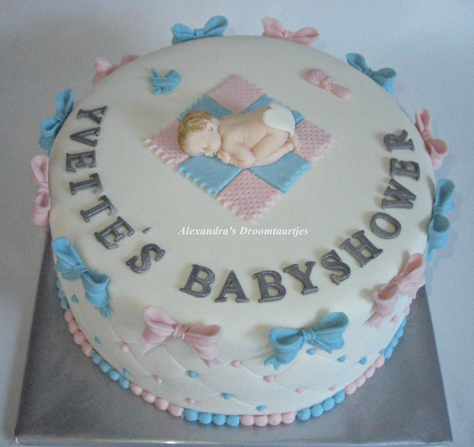 babyshower taart maken Babyshower taart / cake | Alexandra's droomtaartjes babyshower taart maken