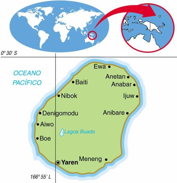 NAURU, ASPECTOS GEOGRÁFICOS E SOCIOECONÔMICOS DE NAURU
