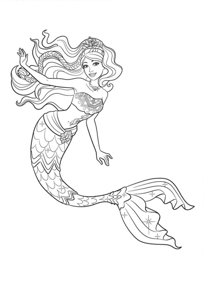 Desenhos De Sereia Para Colorir Pintar Imprimir Folclore