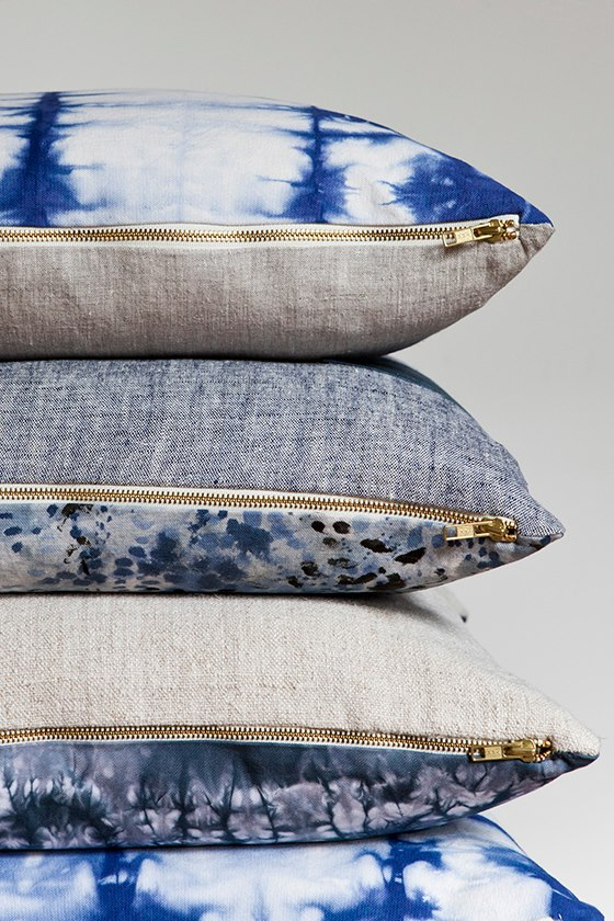 Rebecca Atwood Shibori pillows