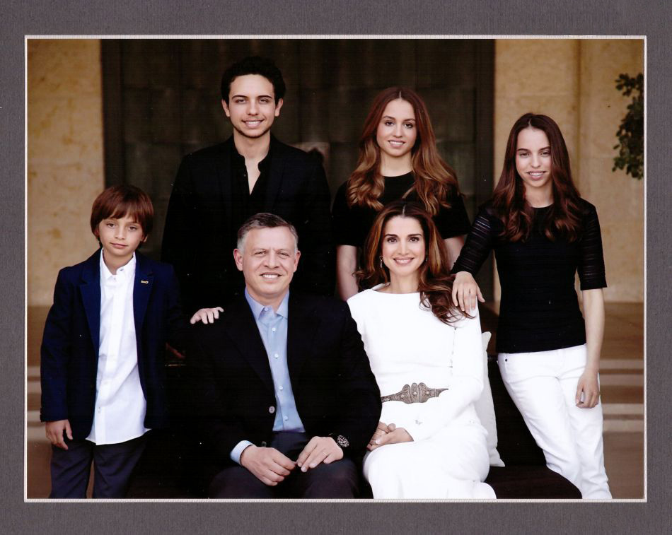 new years and season greeting cards from the jordanian royal family - Royal Family Christmas Card