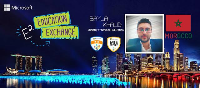 الملتقى الدولي للتعليم بسنغفورة Education Exchange : الأستاذ خالد بيلا يمثل الأساتذة المجددين المغاربة