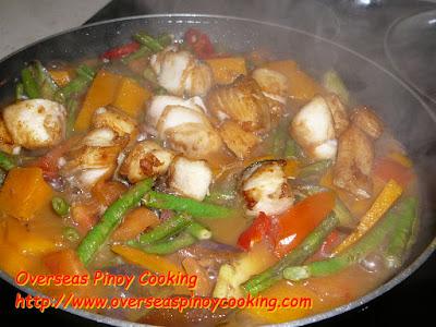 Meatless Pinakbet, Fish Pinakbet - Cooking Procedure