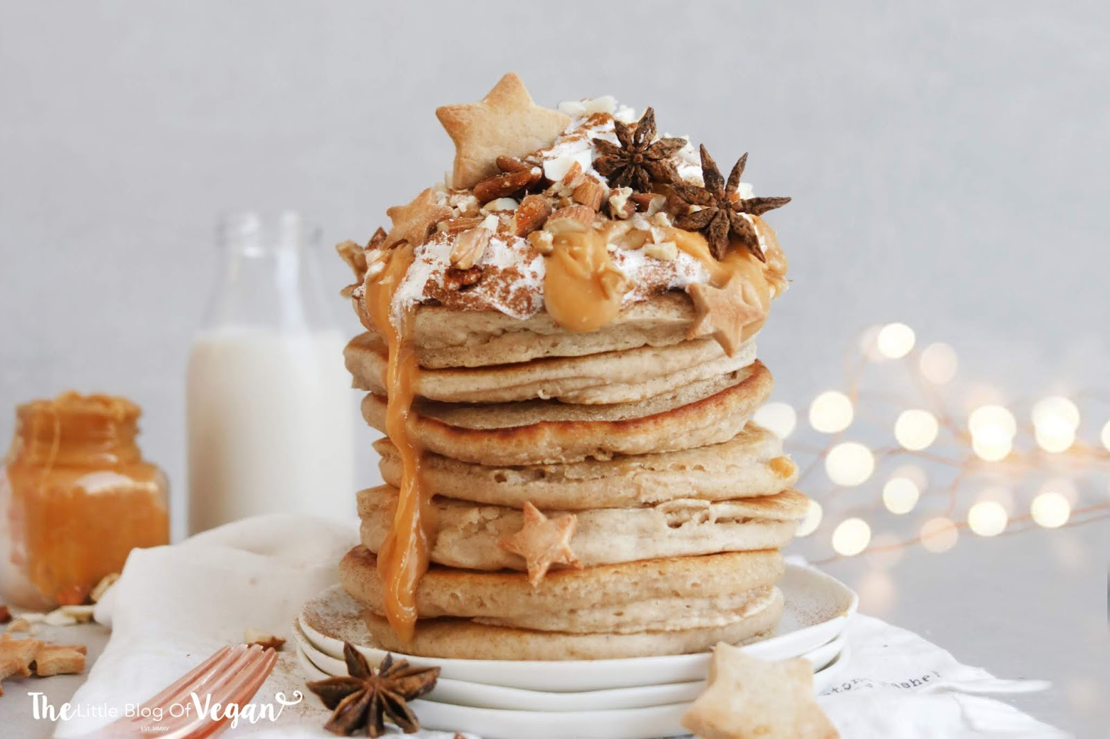 Starbucks inspired Vegan Toffee Nut Pancakes recipe