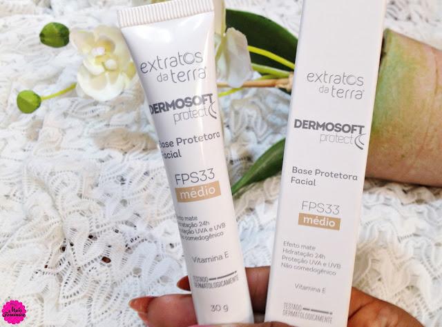 Resenha - Base protetora facial - Dermosoft Protect - Extratos da Terra