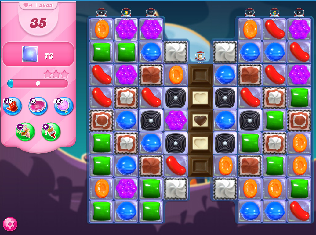 Candy Crush Saga level 3885
