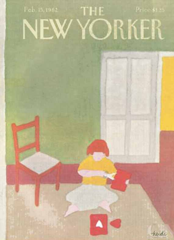 valentine's day, magazine covers, the new yorker, heide goennel illustration