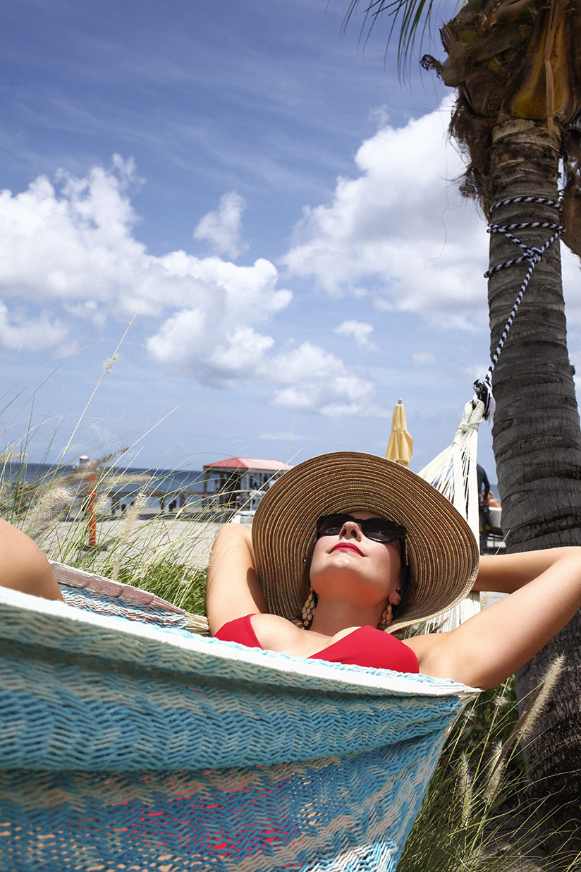 Amy West in floppy hat by Cabana Life