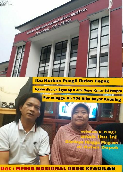 Ket Gambar   Ibu Sumiarti memberikan keterangan langsung kepada Reporter  Obor Keadilan tentang tata cara perlakuan terhadap anaknya yang ada di  rutan Depok. 28d36760bd