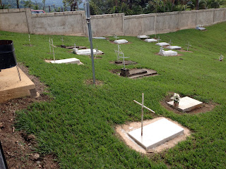 In ground burial at cemetery in Puriscal.
