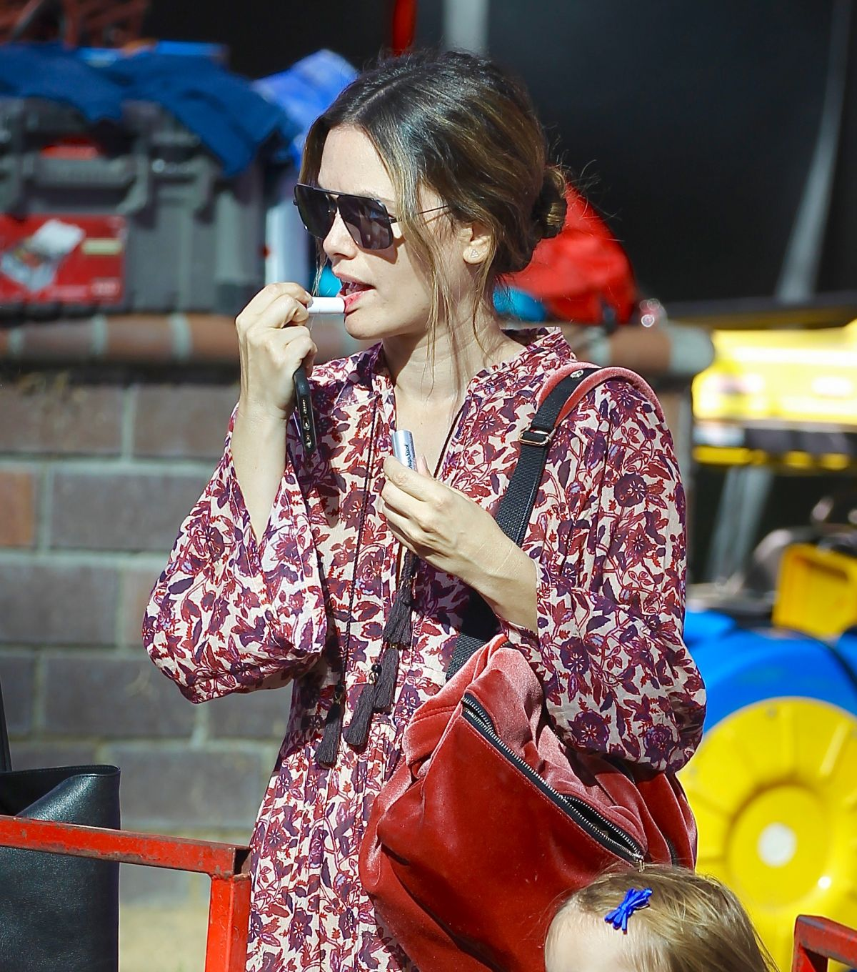 Rachel Bilson at Farmer's Market in Studio City
