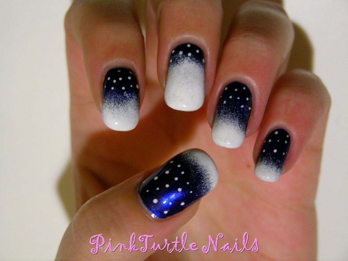 Pinkturtle Nails Winter Nail Art Challenge Snow All