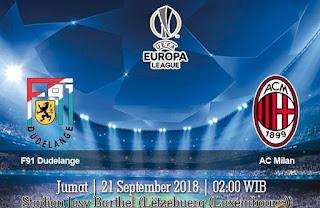 Prediksi F91 Dudelange vs AC Milan 21 September 2018