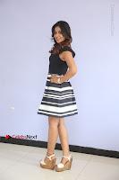 Actress Mi Rathod Pos Black Short Dress at Howrah Bridge Movie Press Meet  0094.JPG