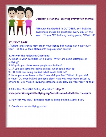 October is National Bullying Prevention Month! | Education World