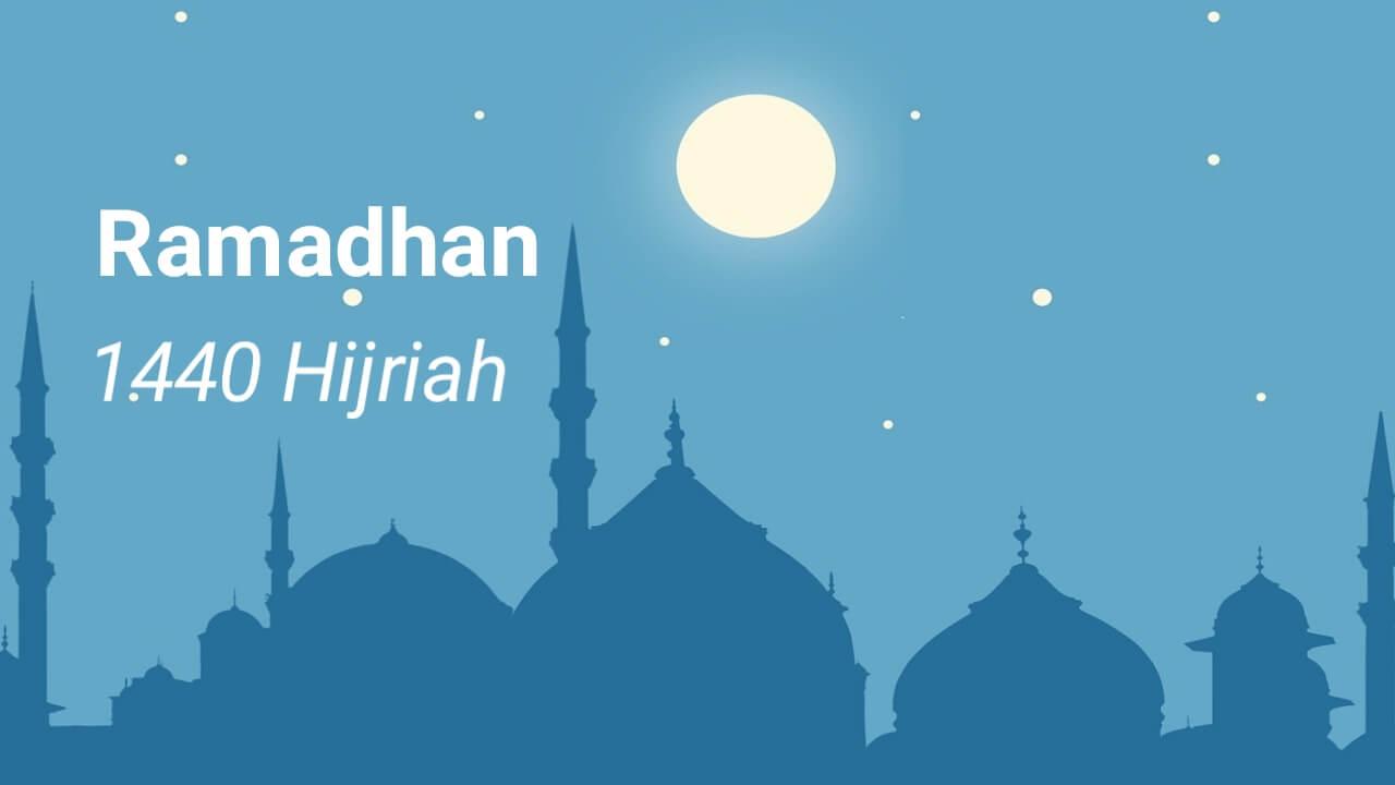 Jadwal imsyak dan berbuka puasa ramadhan 1440 Hijriah