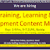 Job: Hiring Training, Learning & Development Content Manager Exp: 1-5Yrs, 5-7.2LPA, Noida, hr@3DIndiaGroup.Com; 080-50626011