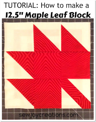 maple leaf block tutorial button