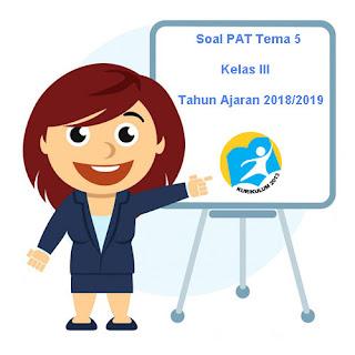 Contoh Soal UKK / PAT Tema 5 Kelas 3 K13 Terbaru Tahun 2019