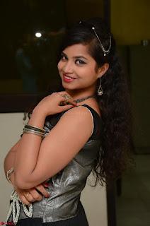 Shrisha Dasari in Sleeveless Short Black Dress At Follow Follow U Audio Launch 066.JPG