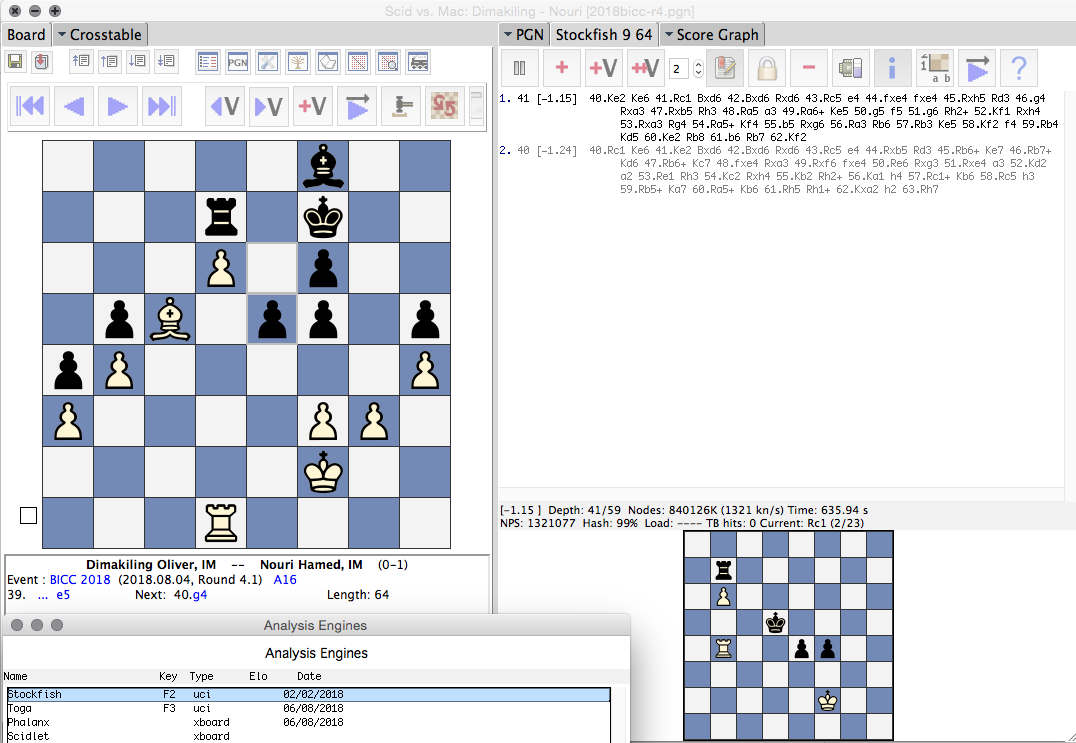 Chess Engines on the Mac