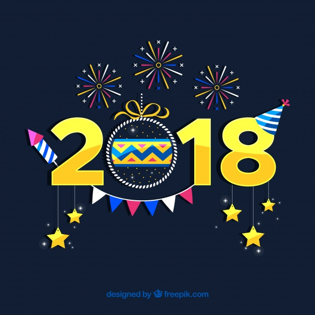 New year background Free Vector