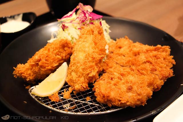 Oyster and hire katsu set of Tonkatsu by Terazawa